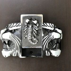 Other - TIGER Scorpion BELT BUCKLE GOLD SILVER COWBOY